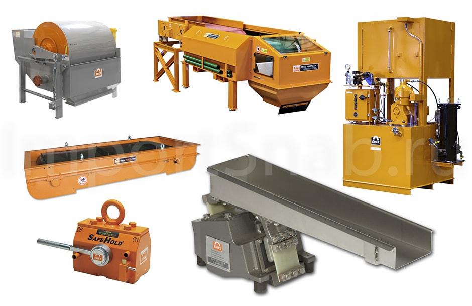 Металлодетекторы и магнитные сепараторы Eriez