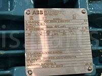 Двигатель, подшипники ABB. Заводская табличка