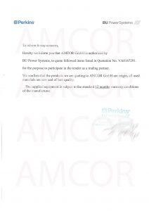 perkins authorization signed and sealed 1 212x300 - Amcor.GmbH авторизована на поставку оборудования