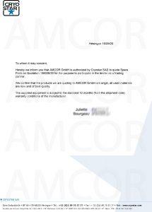 CRYOSTAR AUTH 215x300 - AMCOR – авторизованный партнер Cryostar SAS