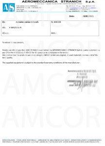 V 06521 letter Aeromeccanica 216x300 - AMCOR – авторизованный партнер Aeromeccanica Stranich S.p.A.