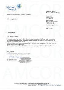 Johnson Control 110201 212x300 - AMCOR – авторизованный партнер Johnson Controls